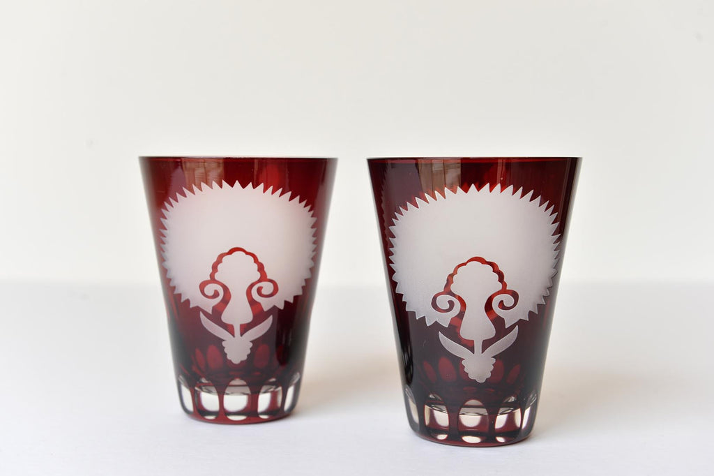 Pair of cut glass glasses - L'Atelier Natalia Willmott