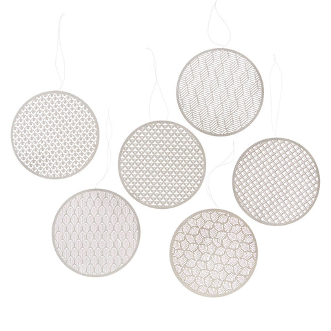 Round laser cut paper ornaments