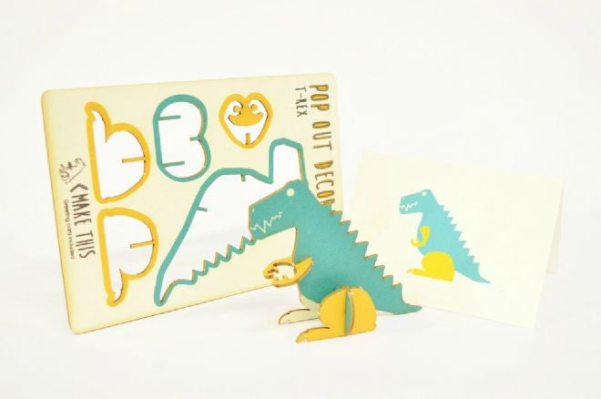 T-rex pop out card - L'Atelier Natalia Willmott