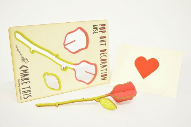 Rose pop out card - L'Atelier Natalia Willmott