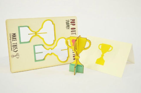 Trophy pop out card - L'Atelier Natalia Willmott
