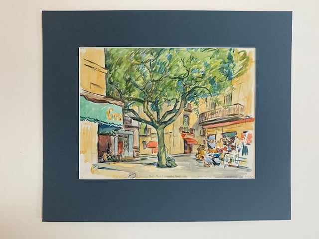 Port-Bou watercolour by J. Johnstone Rough - L'Atelier Natalia Willmott