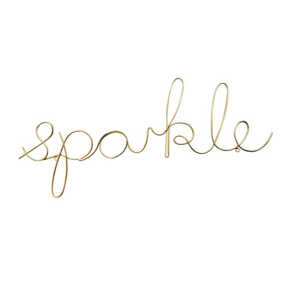 "Gold ""Sparkle"" wire word - L'Atelier Natalia Willmott"