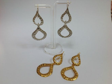 Snowflake drops earrings by Elisabeth Riveiro - L'Atelier Natalia Willmott