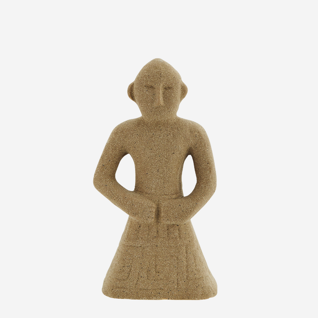 Stoneware figure decoration - beige