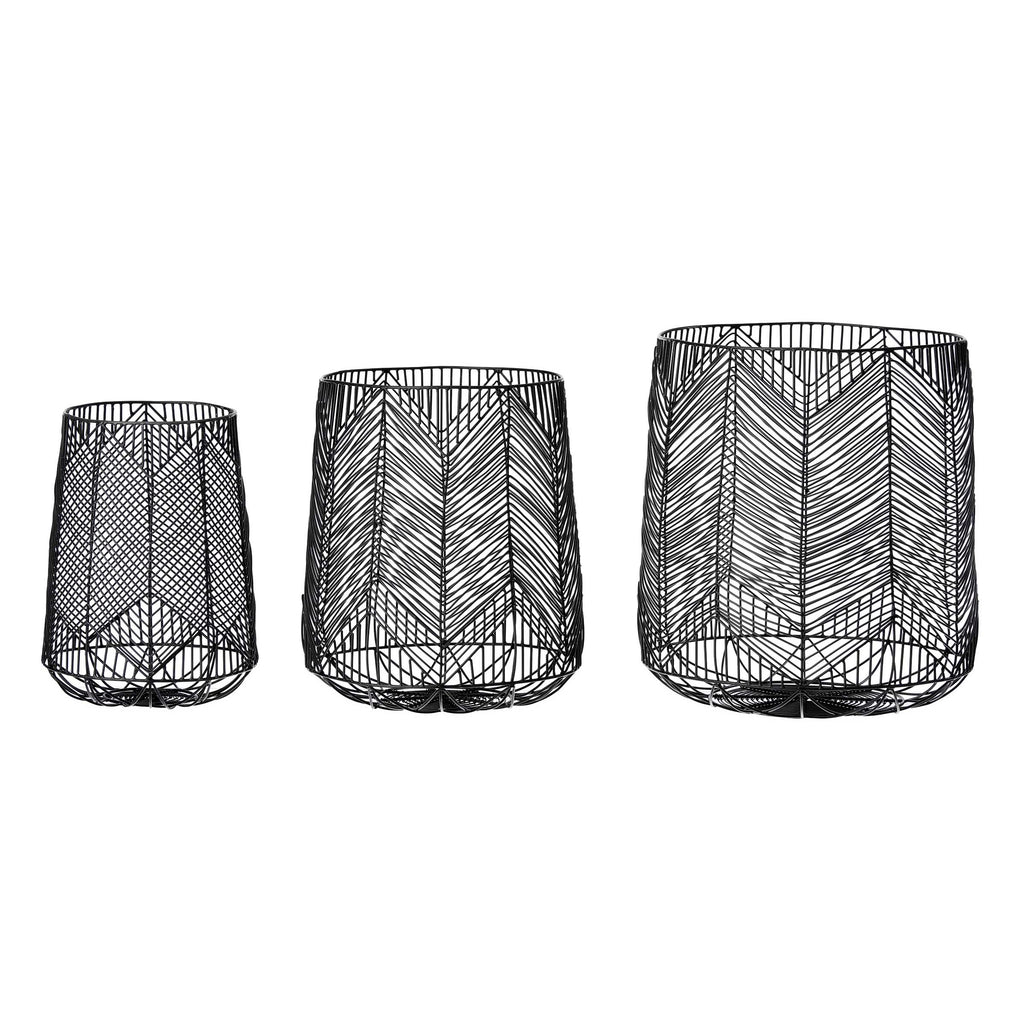 Tribal wire basket set