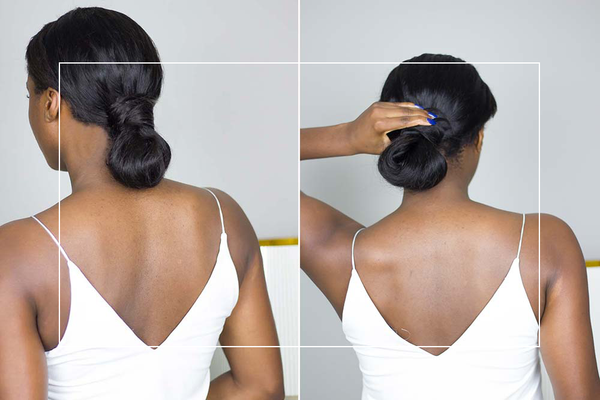 How to: Quick and easy Half bun tutorial