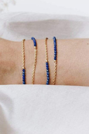 24k Gold Plated Lapis Lazuli Glasses Chain & Bracelet - Sunny Cords at The Bias Cut