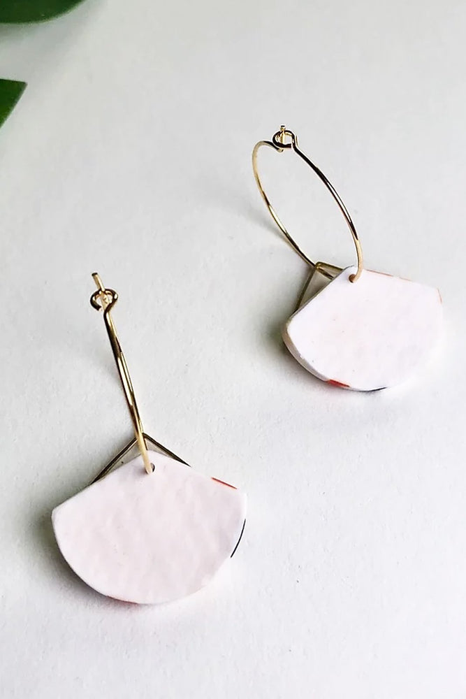 24k Gold Plated Terrazzo Hoops - ALOË at The Bias Cut