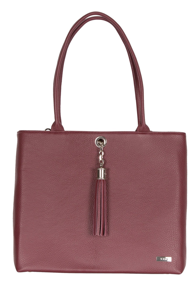 Aster Leather Burgundy Shoulder 2-in-1 Handbag