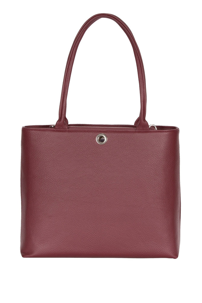 Aster Leather Burgundy Shoulder 2-in-1 Handbag - VVA at The Bias Cut