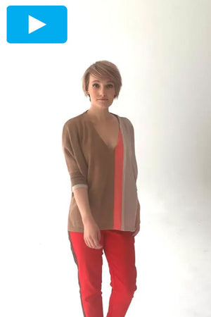 Athena 100% Cashmere Jumper - Jacynth London at The Bias Cut