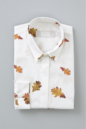 Autumn Leaves Cotton Poplin - Gibson & Birkbeck at The Bias Cut