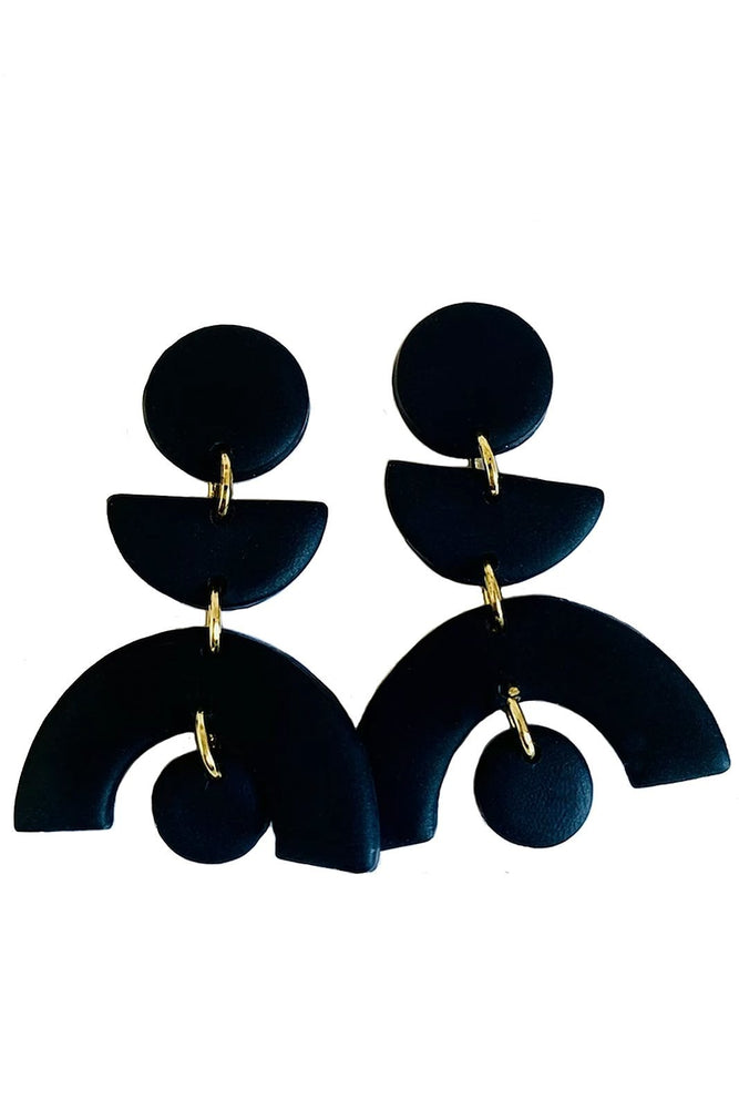 Back in Black Earrings