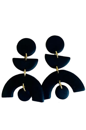Back in Black Earrings - No Shrinking Violet