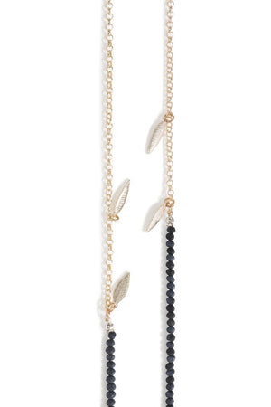 Bead It Dark Blue Glasses Chain - Sunny Cords at The Bias Cut