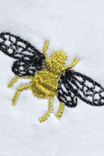 Bee Embroidered T-Shirt - Ingmarson at The Bias Cut