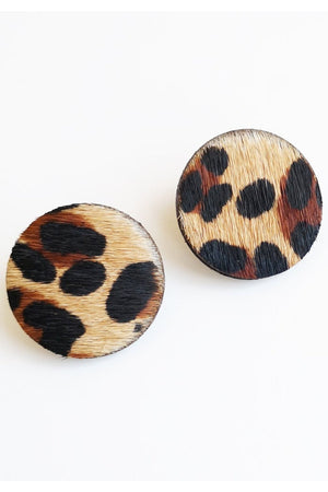 Betty Leopard Stud Earrings - Dark Horse Ornament at The Bias Cut