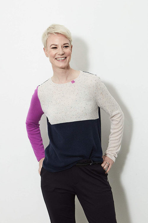 Block Shock 100% Cashmere Knit - Lisa Todd