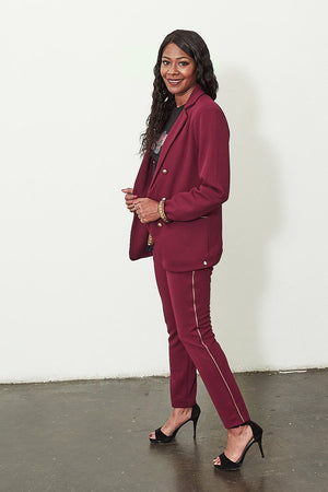 Load image into Gallery viewer, Bold Bordeaux Pants - POM Amsterdam at The Bias Cut