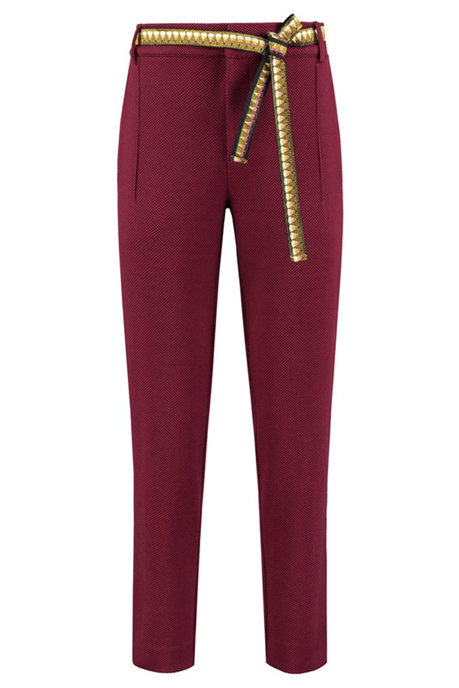 Bold Bordeaux Pants - POM Amsterdam at The Bias Cut