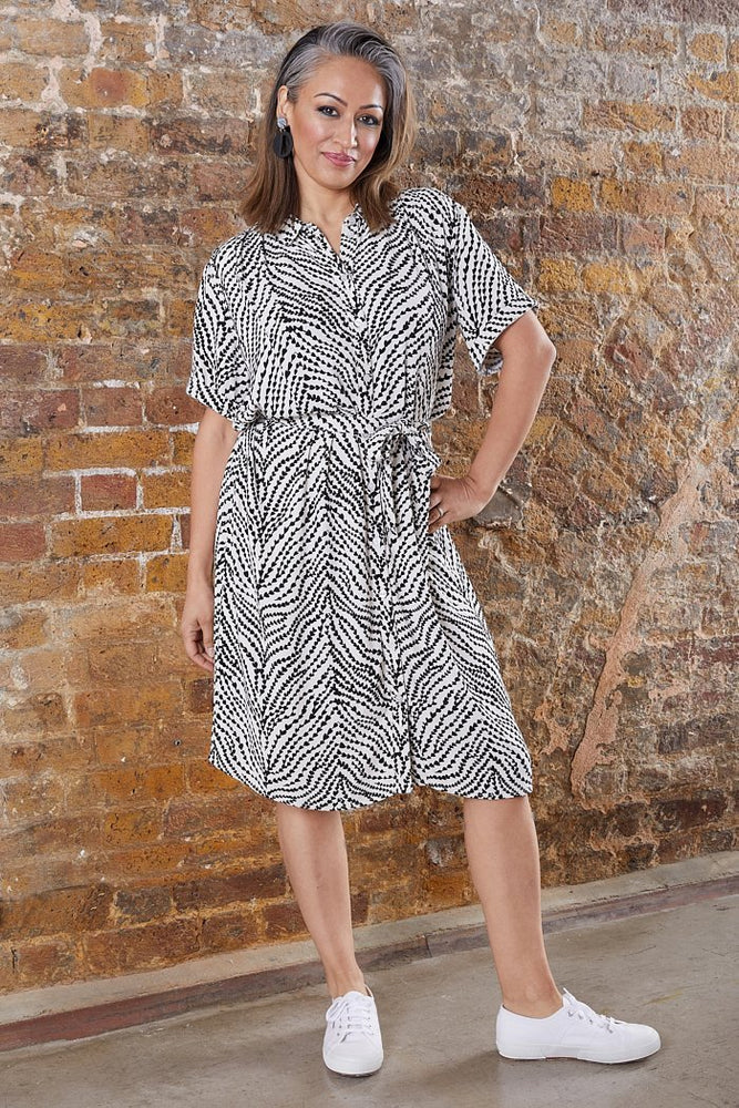 Fabienne Chapot Boyfriend Black & White Shirt Dress