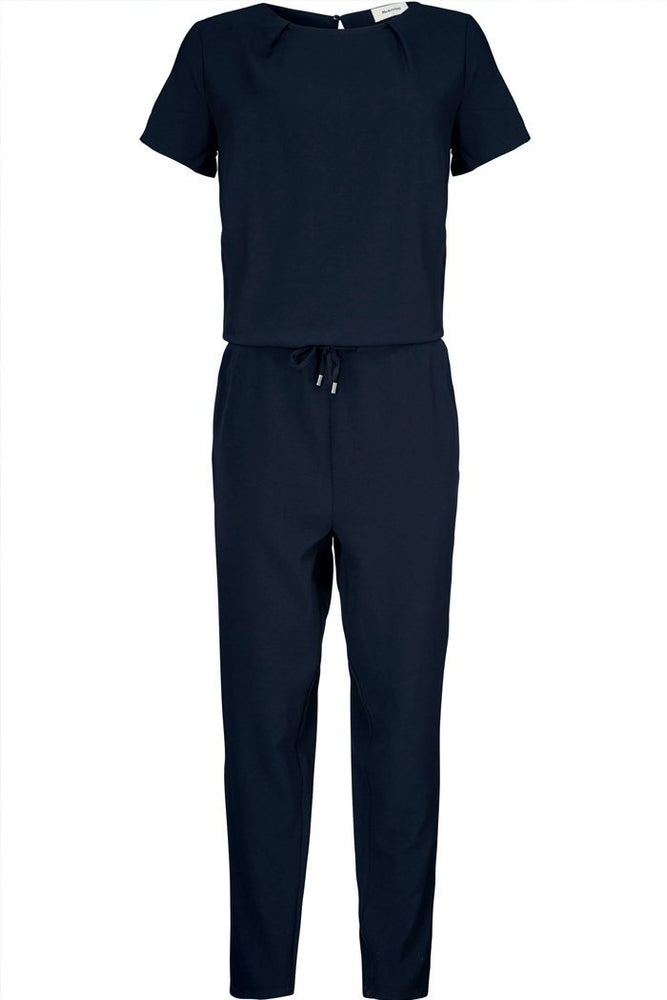 Modstrom Campbell Navy Short Sleeve Jumpsuit at The Bias Cut
