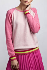 Carmen Pink Cashmere Jumper - Cove Cashmere at The Bias Cut