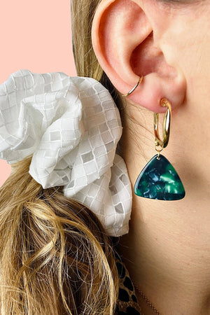 Load image into Gallery viewer, Chunky Bottle Green Dangle Studs - ALOË at The Bias Cut