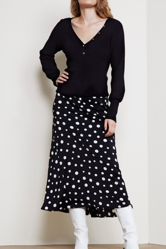 Claire Skirt in Dotty Print - Fabienne Chapot at The Bias Cut