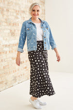 Claire Skirt in Dotty Print - Size S