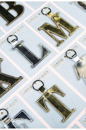 Load image into Gallery viewer, Classic Alphabet Keyring - Dark Horse Ornament at The Bias Cut
