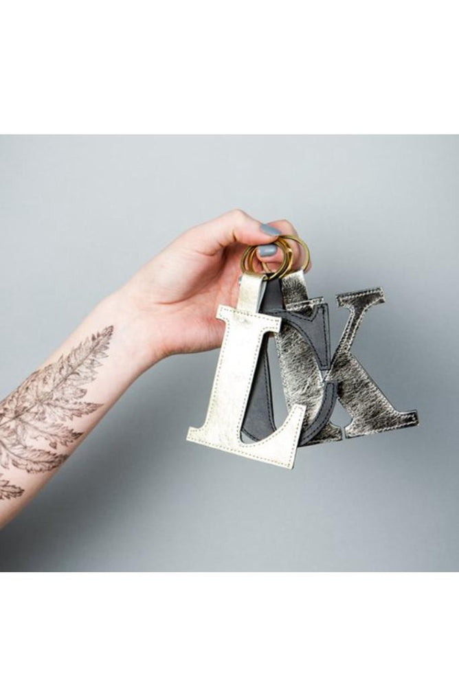 Classic Alphabet Keyring - Dark Horse Ornament at The Bias Cut
