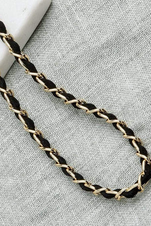 Load image into Gallery viewer, Classy C Gold & Black Chain - Sunny Cords at The Bias Cut