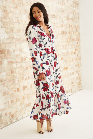 Load image into Gallery viewer, Coco Purple Rain Roses Dress - Fabienne Chapot at The Bias Cut