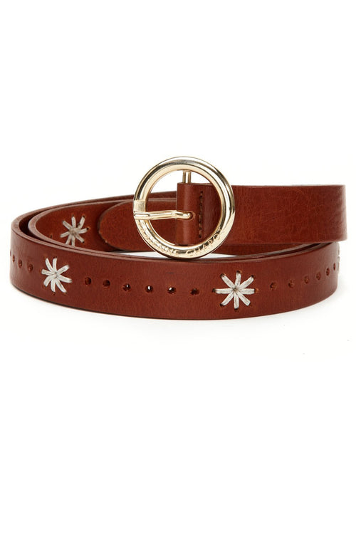 Cognac Sunflower Belt - Fabienne Chapot