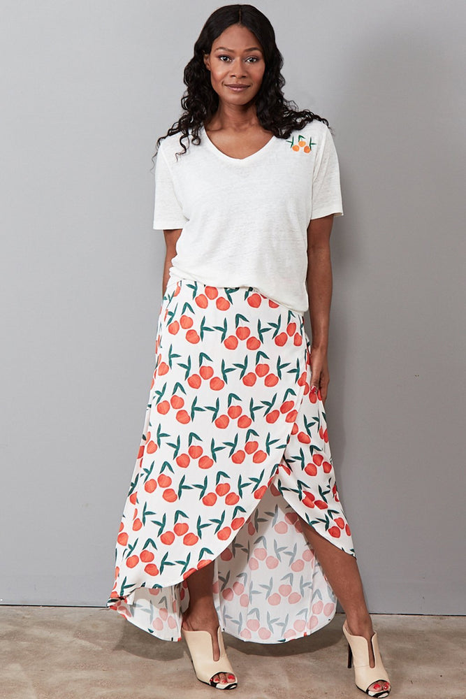 Cora Skirt in Peachy Print