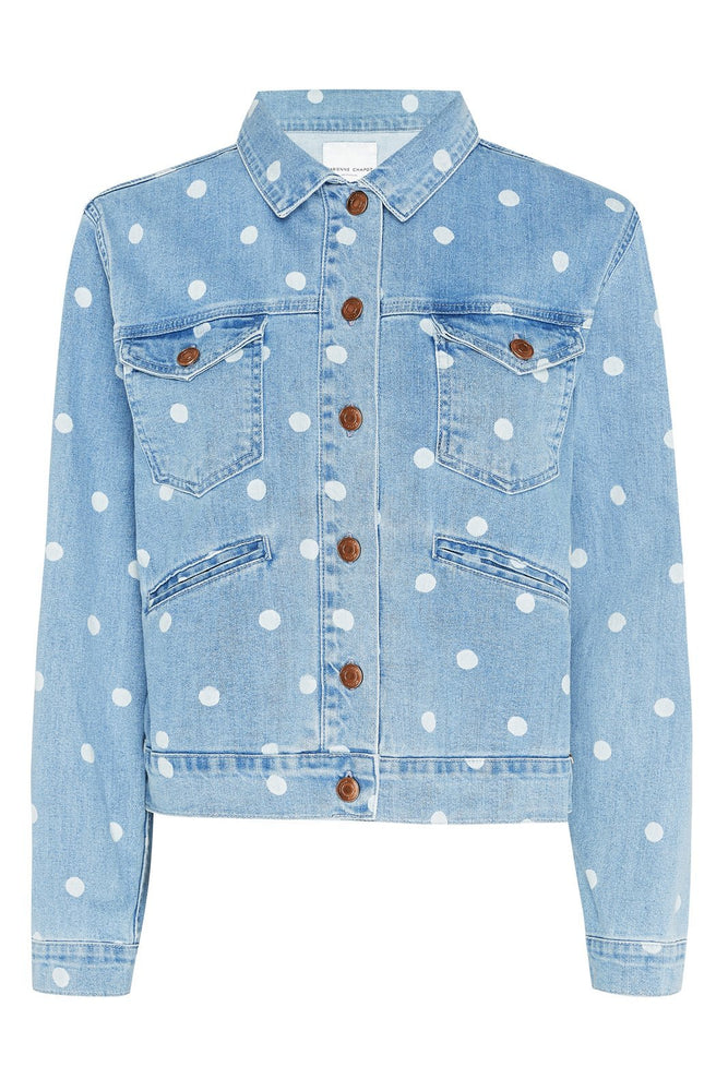 Cyprus Dot Denim Jacket - Fabienne Chapot at The Bias Cut