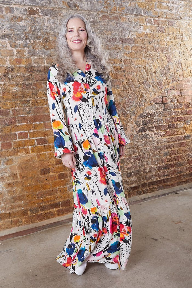 Delicious Mess Ecru Dress - POM Amsterdam at The Bias Cut