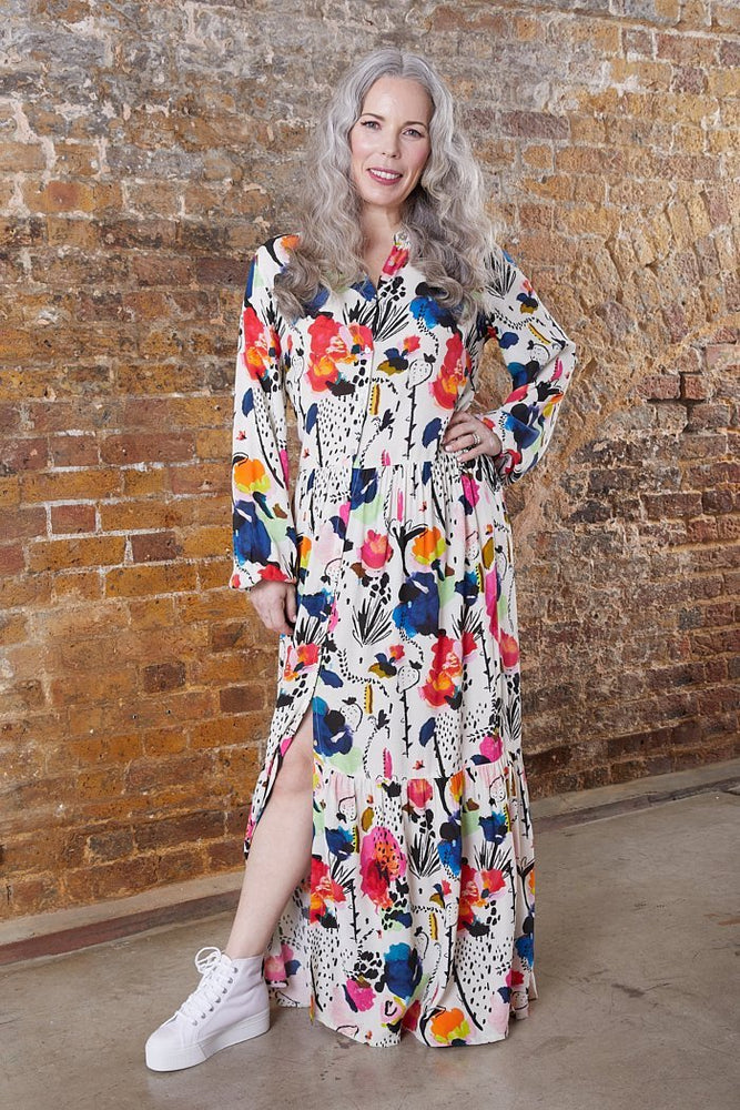Delicious Mess Ecru Dress - Size UK 12 / EU 40 / US 8