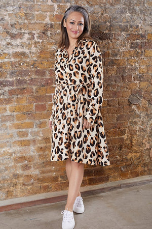 Fabienne Chapot Dorien Leopard Print Dress at The Bias Cut