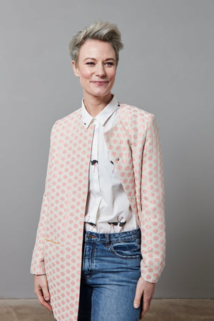 Load image into Gallery viewer, Dots Pink Jacket Size L - POM Amsterdam