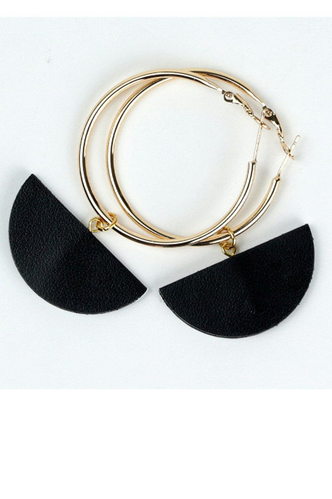 Eclipse Black Hoop Earrings - Dark Horse Ornament at The Bias Cut