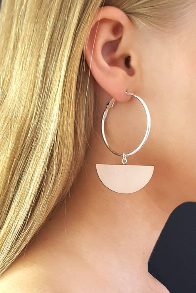 Eclipse Blush Hoop & Dot Earrings - Dark Horse Ornament at The Bias Cut