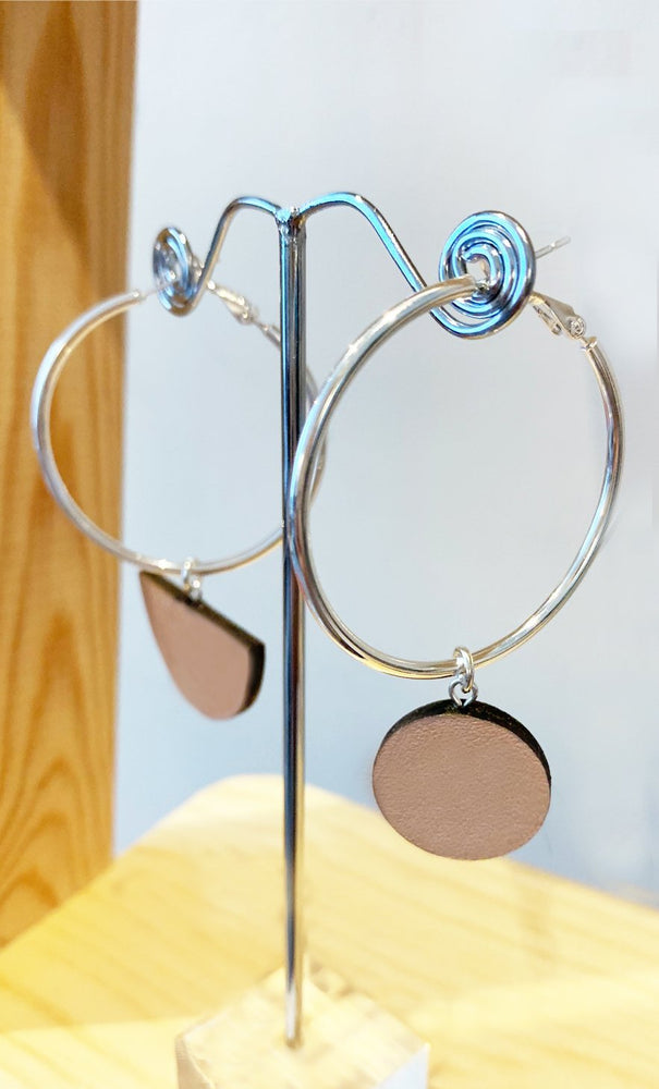 Eclipse Blush Hoop & Dot Earrings