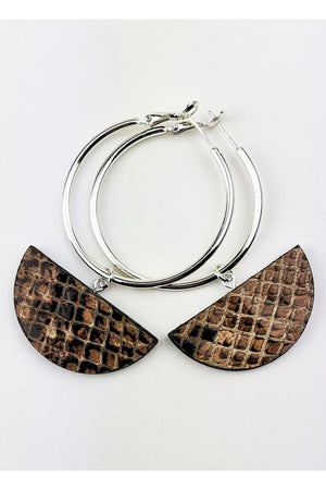 Eclipse Snake Hoop Earrings - Dark Horse Ornament