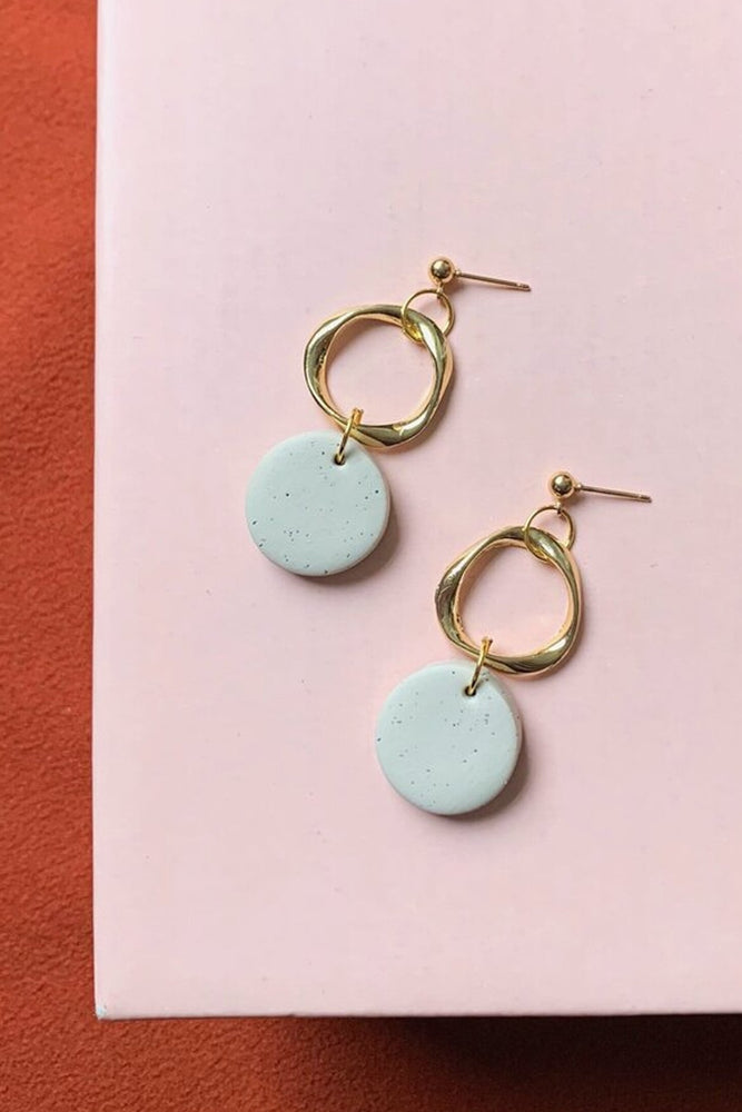 Ella Earrings - Cloud + Clay at The Bias Cut
