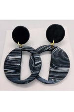 Embers Smoke Haze Deco Earrings
