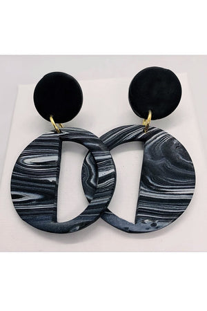 Embers Smoke Haze Deco Earrings - No Shrinking Violet