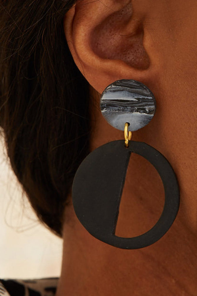 Embers Smoke Haze Stud Earrings